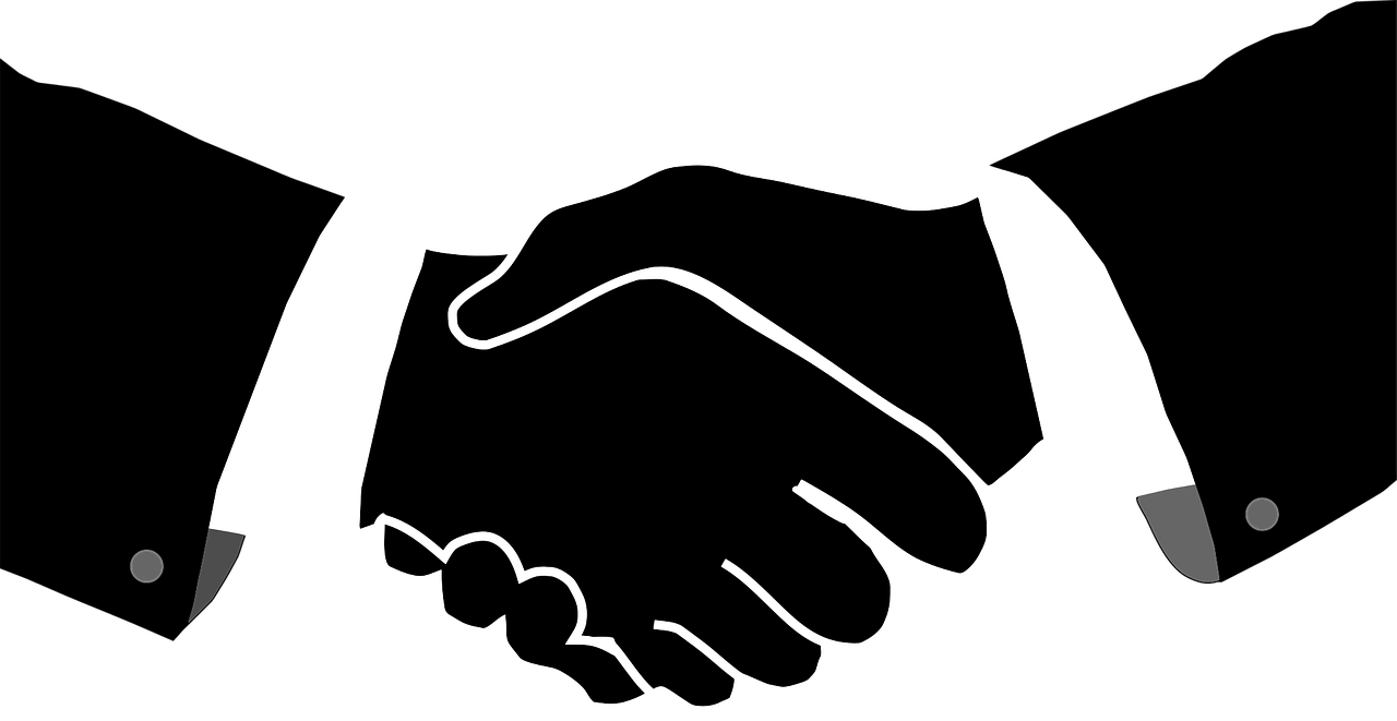 buyer and supplier shaking hands
