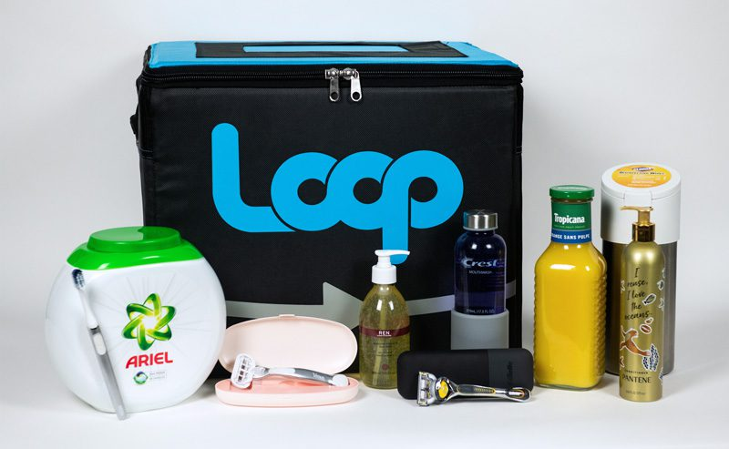 Loop reusable tote and reusable packaging